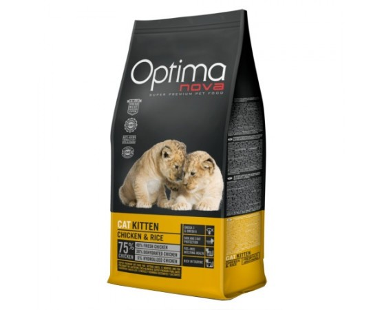 -Pienso de alta calidad para gatitos. -Elaborado con un 75% de pollo acompañado de arroz. -Una única fuente de proteínas anim