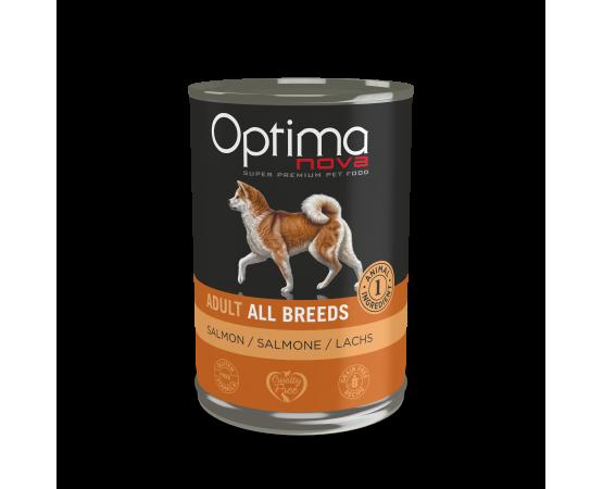 -92% salmón fresco -Con una sola fuente de proteína animal, ideal para disminuir alergias e intolerancias alimentarias. -Rece