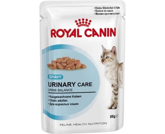 Alimento húmedo para gatos, idóneo para fomentar la salud de las vías urinarias.  Debe darse solamente a gatos que hayan sob